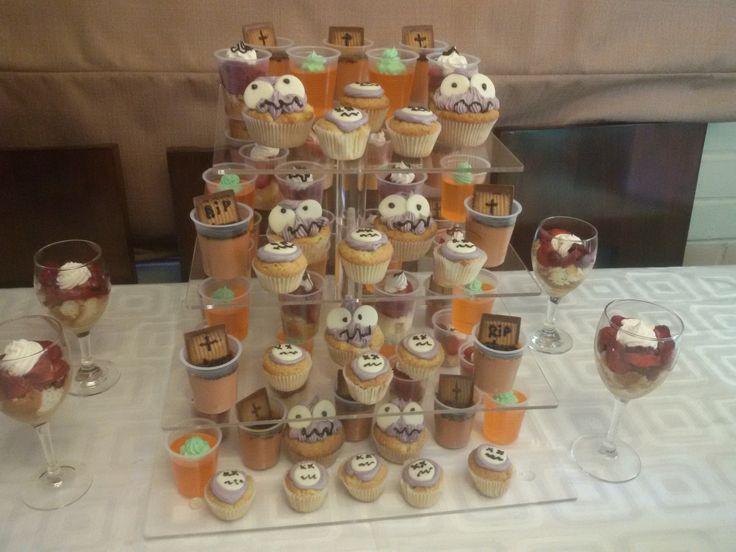 Cascada de postres, temática Halloween!!!!!