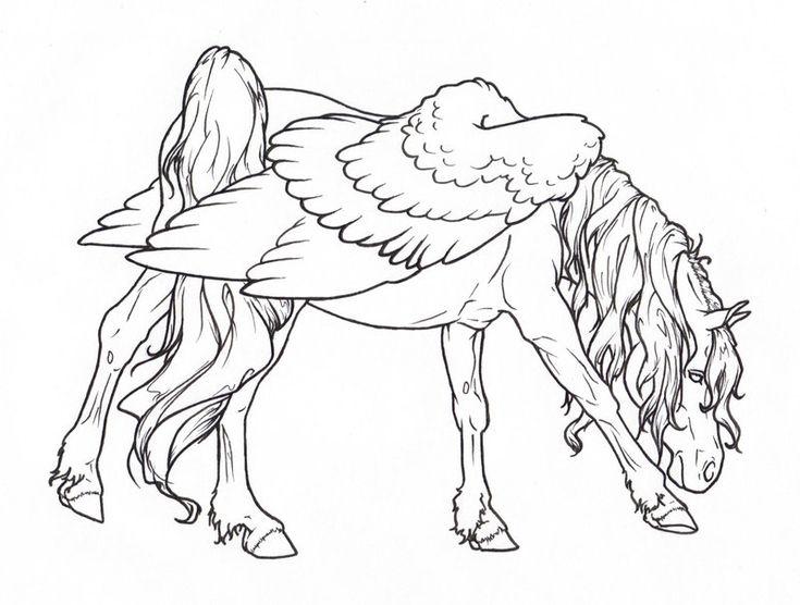 pegasus coloring page - Pegasus Coloring Page