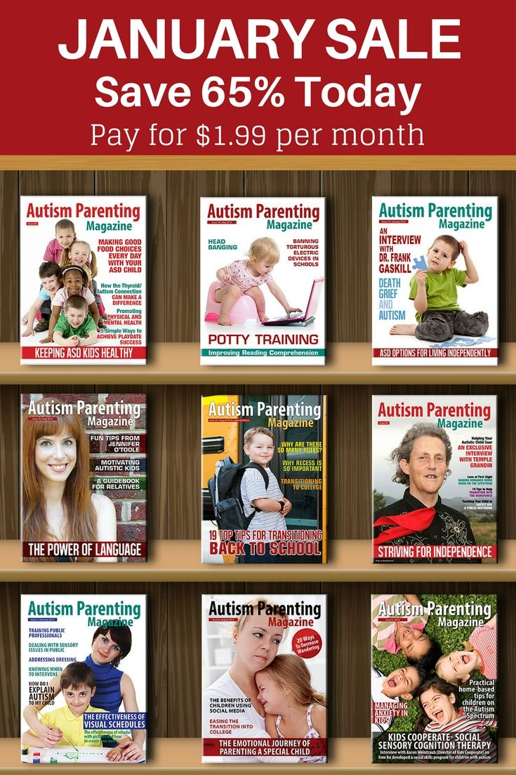 Autism Parenting Magazine -Subscribe today to give your family the best start to the new year! Pay only$1.99 for each monthly issue instead of $4.99; Get $29.97 worth of FREE bonuses; Pay monthly Cancel Anytime; Offer ends 31st Jan  https://www.autismparentingmagazine.com/januarylimitedtimeoffer