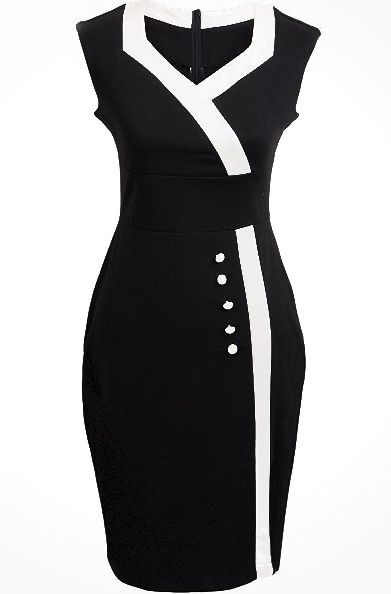 Shop Black V Neck Sleeveless Buttons Bodycon Dress online. Sheinside offers Black V Neck Sleeveless Buttons Bodycon Dress & more to fit your fashionable needs. Free Shipping Worldwide!