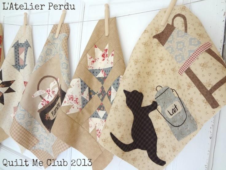 Quilt Me Club 2013 - Parts 1 & 2 - BOM by L'Atelier Perdu