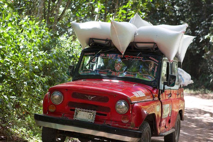 Auf dem Weg zu einigen Kaffeebauern in Tolima