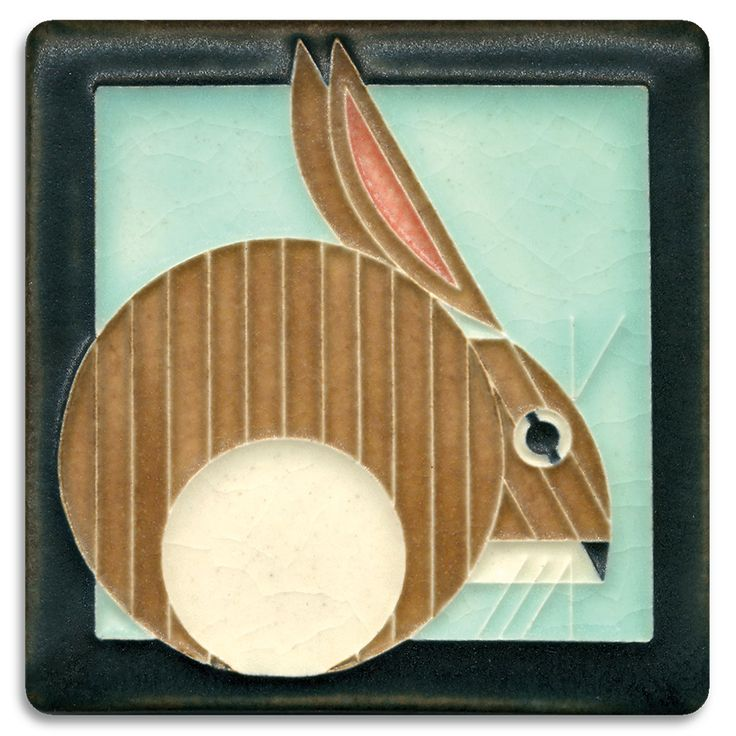 """Motawi Tileworks Collection Mid-century modern meets Motawi mastery in these tiles based on the work of celebrated wildlife artist Charley Harper (1922-2007), a self-described """"minimal realist."""" Actua"""