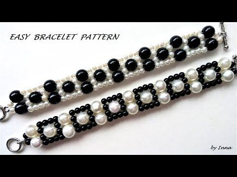 How to make a bracelet in less than 10 minutesEasy pattern. - YouTube