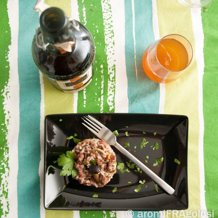 Risotto con funghi e salsiccia   Le ricette di Aromi Fragolosi