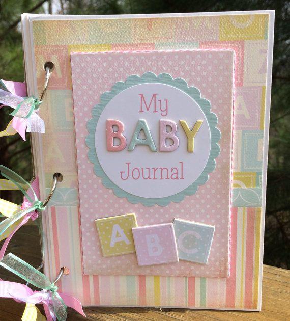 Baby Girl Mini Album Scrapbook Kit or Premade Gift by ArtsyAlbums, $42.99
