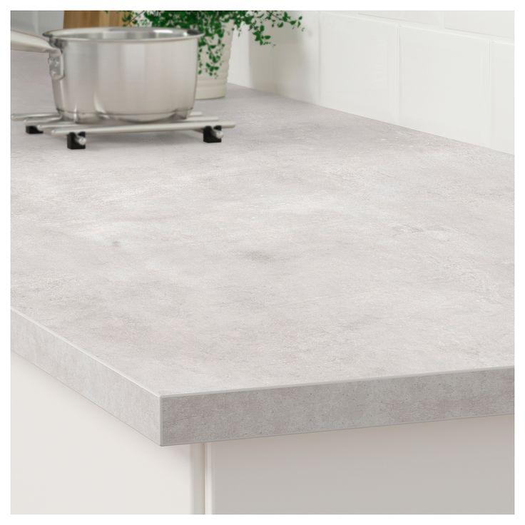 Ekbacken Countertop Light Gray Concrete Effect Laminate