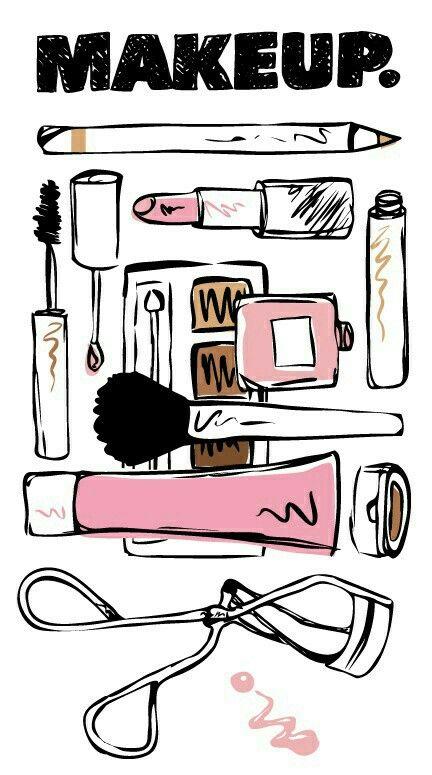 Cosmetic, illustration, decopage