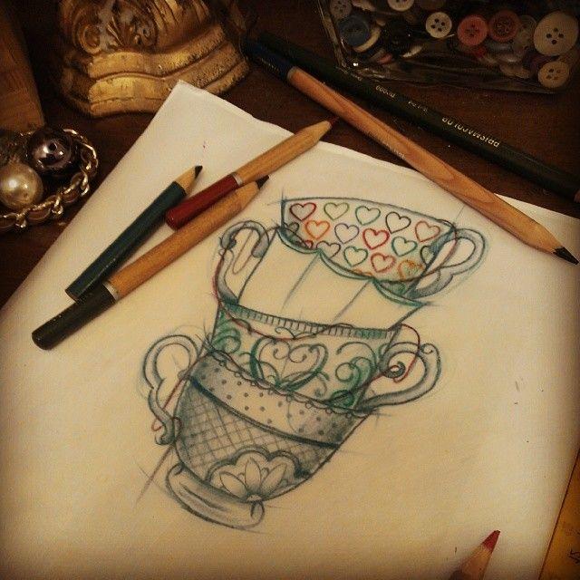 tea cups for my alice sleeve?