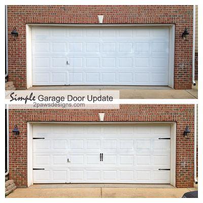 Best 25 garage door update ideas on pinterest garage door decor curb appeal porch and diy - Installing carriage style garage doors improve exterior ...
