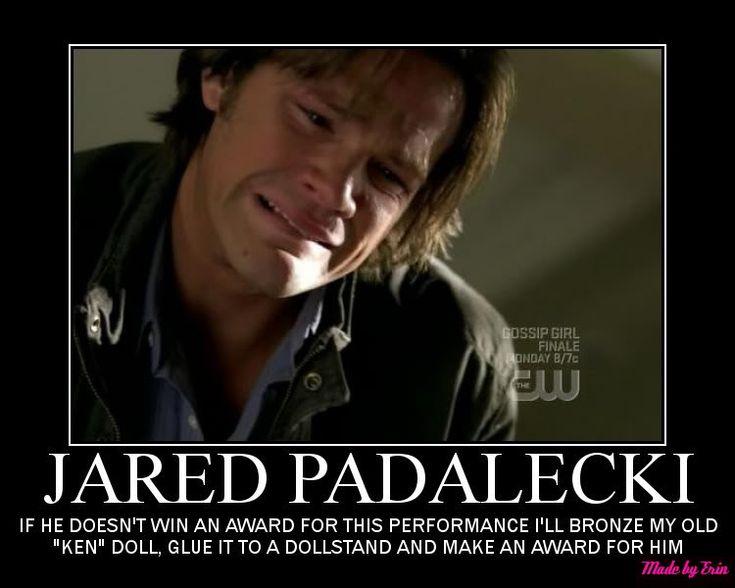 Funny Supernatural Posters | SUPERNATURAL SAM WINCHESTER JARED PADALECKI Graphics Code ...