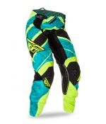 Kinetic Women's Teal/Hi-Vis Yellow Jersey | FLY Racing | Professional grade Motocross, BMX, MTB, Offroad, ATV, Snowmobile, and Watercraft apparel and hard parts