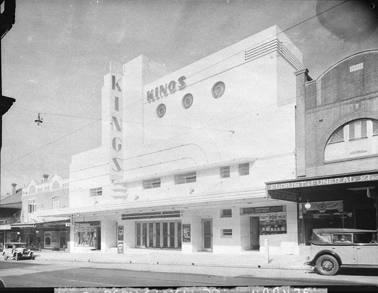 Photograph of the Kings Theatre at Marrickville showing the exterior of the theatre building. Taken by Sam Hood on 30 July 1937. From the Mitchell Library, State Library of New South Wales : http://www.acmssearch.sl.nsw.gov.au/search/itemDetailPaged.cgi?itemID=11213