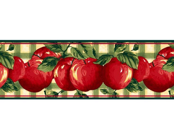 578 best borders images on pinterest border tiles for Wallpaper borders kitchen ideas