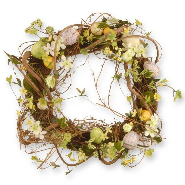 18 Easter Eggs Wreath - National Tree Company, Brown