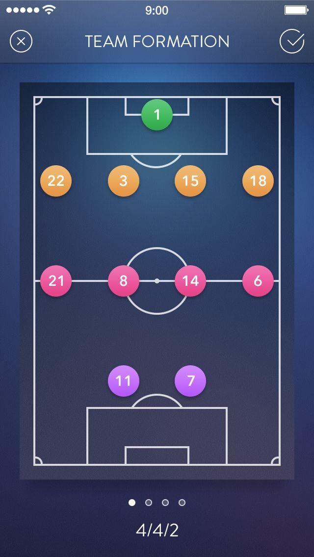 Secret Football App: Team Formations / Alexander Zaytsev
