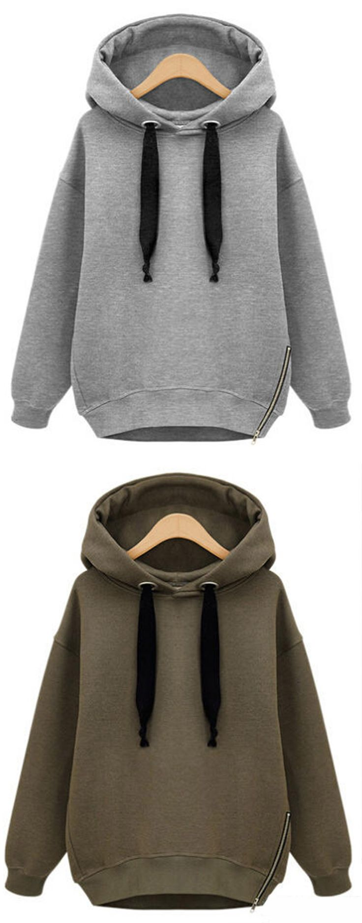 It's a time to slip into something a little more comfortable. The Easy Does It Sweatshirt with a lined drawstring hood,features fleece lining and oversized casual style. Shop this look at CUPSHE.COM !