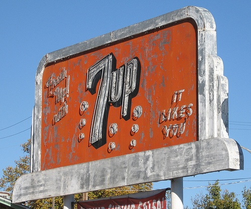 Old sign.