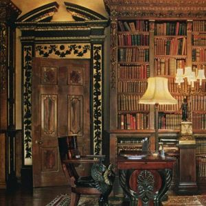 Downton Abbey and Highclere Castle interiors - library | www.myLusciousLife.com