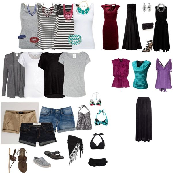 """7 day cruise packing list."" by mmmajklaassen on Polyvore"