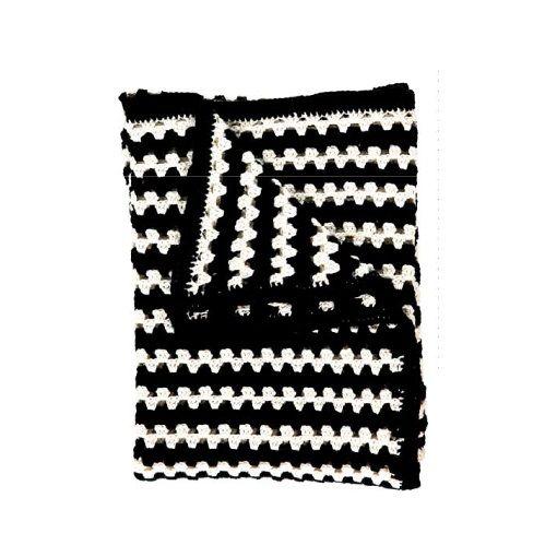 """Hæklet tæppe """"""""Granny Stripe - Stoff & Stil"""
