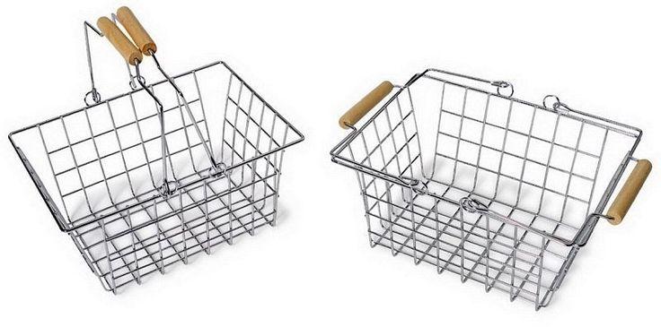 2x Metalkorb Einkaufskorb Fahrradkorb aus Metall 8269