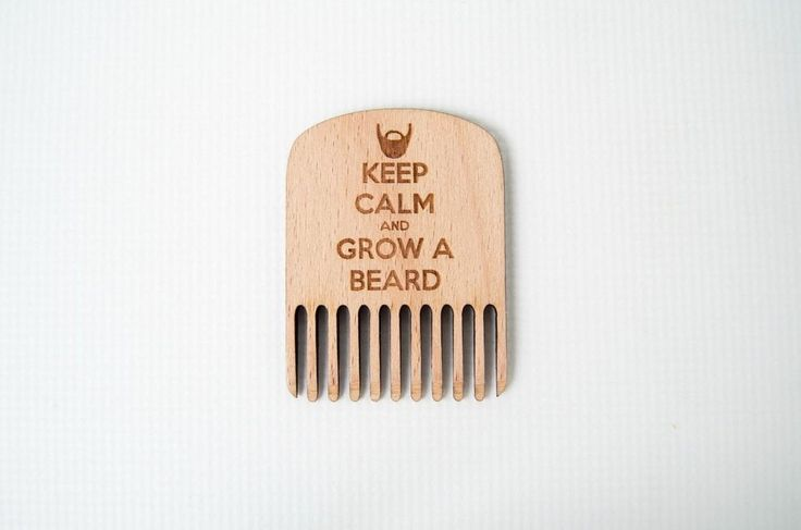 Wooden Beard comb - Keep Calm edition