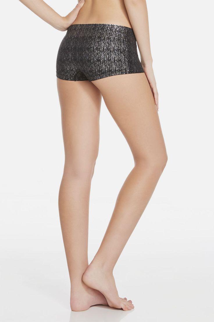 Booty Short in zwart/zilver/icicle print