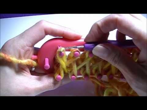 ▶ Sjaal breien op een breiraam/knitting loom. - YouTube