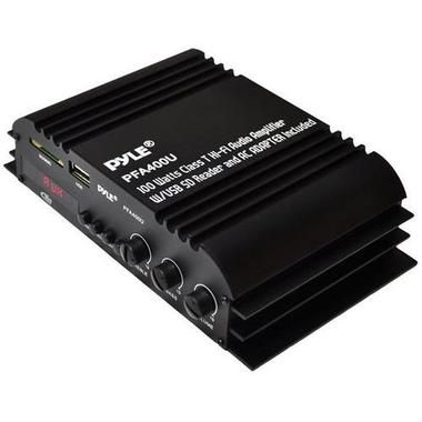 100 Watt Class-T Hi-Fi Audio Amplifier with USB Flash and SD Memory Card Readers - AC Adapter Included W290-PFA400U