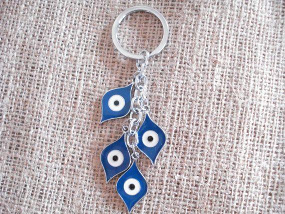Evil eye keyring Karma accessories Protection keychain by Poppyg