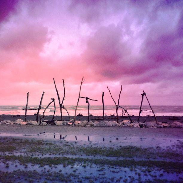 Hokitika, Hokitika, New Zealand - A moody sky on the Wild West...