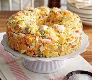 Cremiger amerikanischer Kartoffelsalat