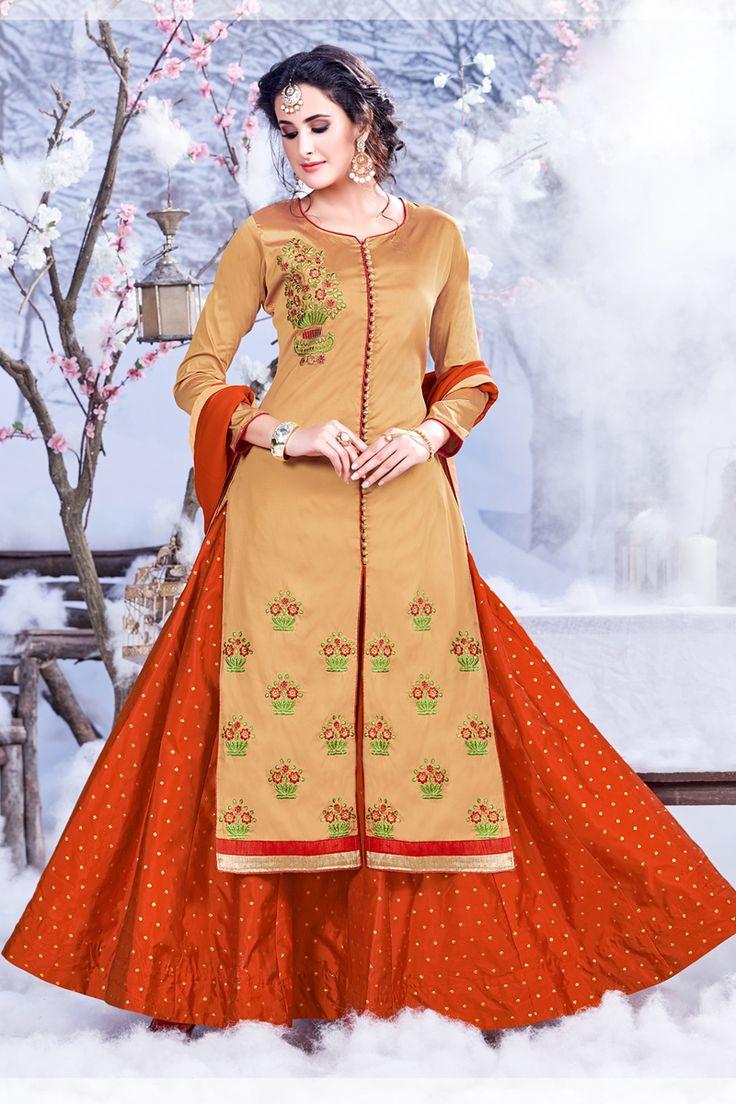Beige-Designer-Festival-And-Wedding-Wear-Indo-Western-Style-Salwar-Kameez-With-Embroidary-Work-Sareen-Riddi-Siddhi-Fashion-Catalog-13302