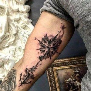 Compass Tattoos Arm, Wolf Tattoo Forearm, Inner Bicep Tattoo, Cool Arm Tattoos, Dope Tattoos, Arm Band Tattoo, New Tattoos, Sleeve Tattoos, Tattos