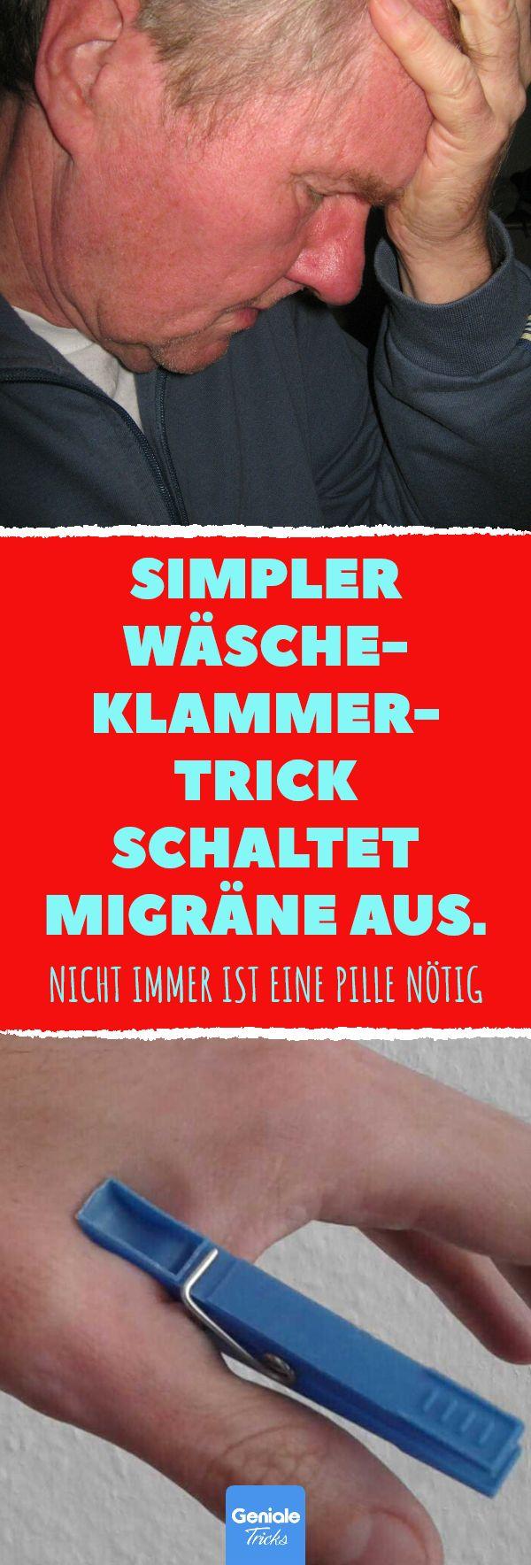 Simpler Wäscheklammer-Trick schaltet Migräne aus. Wäscheklammer als wirksame … Geniale Tricks