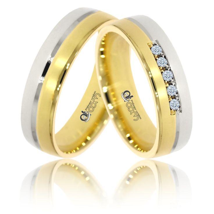 Verighete ATCOM ATC504 aur galben cu alb