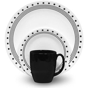 Corelle Livingware City Block 32-Piece Dinnerware Value Bundle
