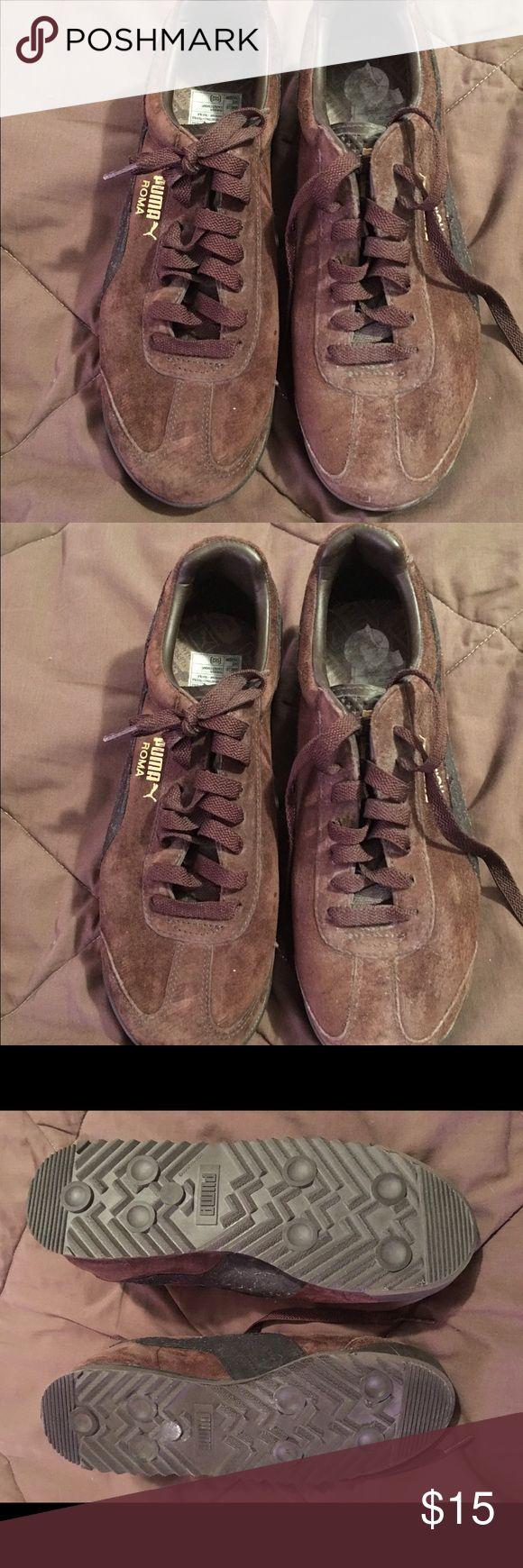 Puma brown w/black stripe tennis shoes size 8 Puma brown w/black stripe tennis shoes size 8 Puma Shoes Sneakers