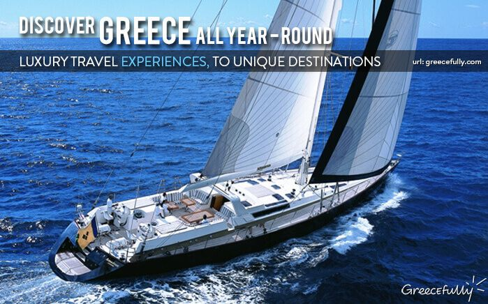 Explore the unknown beauty and exclusivity oftheGreece amid the endless blue. #Sailing #Greece www.greecefully.com