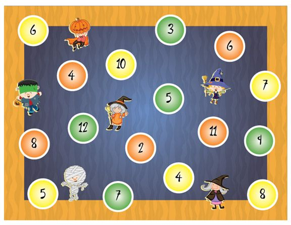 Halloween dice game printable (advanced version) to download