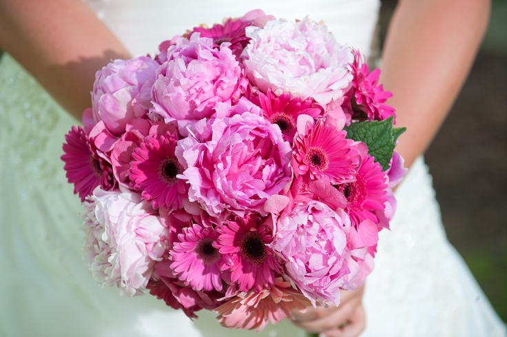Lovely gerbera daisies and peonies