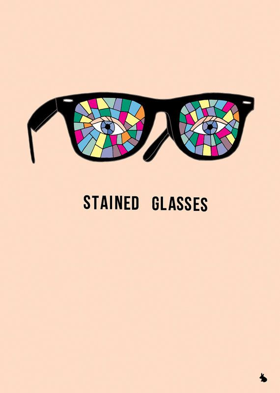 Pink concept poster stained glass glasses eyes poster by kyd13