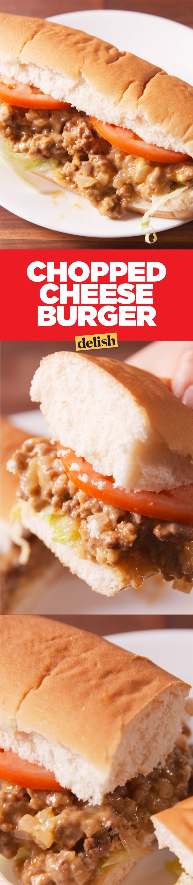 If you like Philly cheesesteaks, this Chopped Cheese Burger will blow your mind. Get the recipe on Delish.com.
