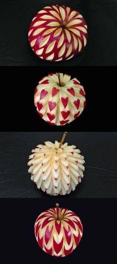 Äpfel mit Muster