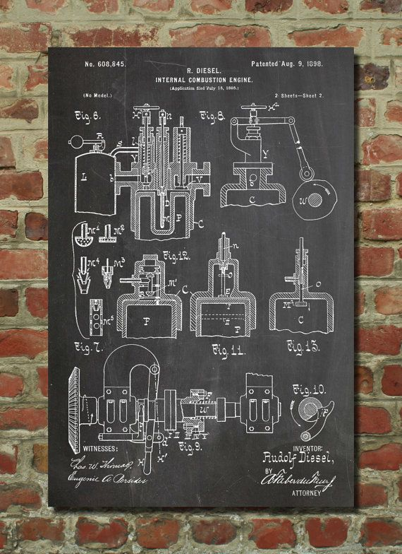 Hey, I found this really awesome Etsy listing at https://www.etsy.com/listing/127453166/diesel-engine-patent-poster-patent-art