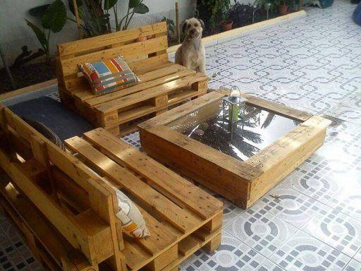 Los 20 trabajos con palets m s votados en facebook facebook and blog - Como hacer muebles de jardin con palets ...