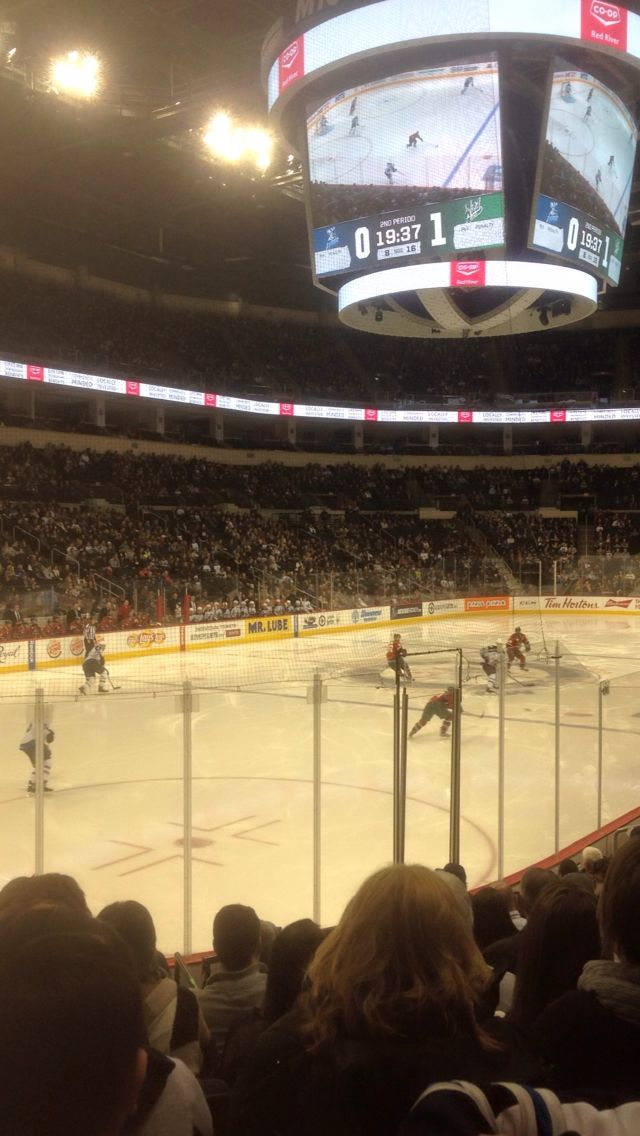 Inside MTS Centre from my season ticket seats.