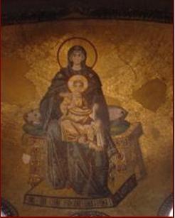 2- Mosaïque de la vierge à l'Enfant, Eglise sainte sophie