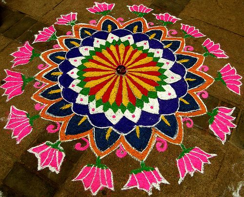 Rangoli differentiated for all ages #culture #symmetry #balance